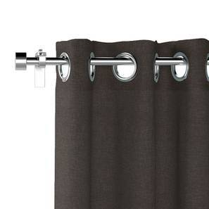 "Ethos Window Curtains - Set Of 2 (Charcoal Grey, 52""x60"" Curtain Size) by Urban Ladder"