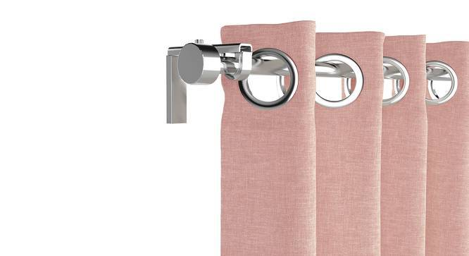 "Ethos Window Curtains - Set Of 2 (52""x60"" Curtain Size, Begonia Pink) by Urban Ladder"