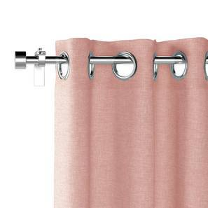 "Ethos Door Curtains - Set Of 2 (52""x108"" Curtain Size, Begonia Pink) by Urban Ladder"