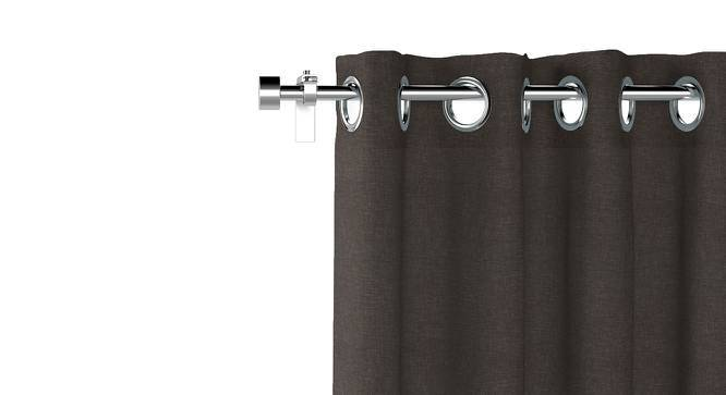 "Ethos Door Curtains - Set Of 2 (Charcoal Grey, 52""x108"" Curtain Size) by Urban Ladder"