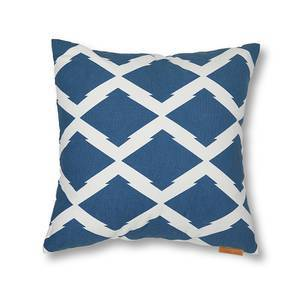 Trellis Cushion Cover - Set Of 2 (Blue) by Urban Ladder
