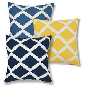 Trellis Cushion Cover - Set Of 3 (Multi Colour) by Urban Ladder
