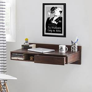 Wodehouse Wall Desk (Walnut Finish) by Urban Ladder