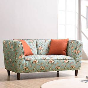Janet Loveseat (Vintage Floral Teal) by Urban Ladder
