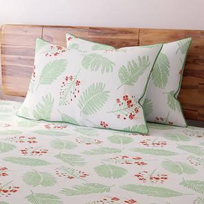 Gulmohar Bedsheet Set (King Size, Multi Colour, Floret Pattern) by Urban Ladder