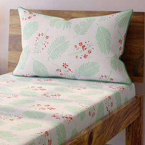 Gulmohar Bedsheet Set (Single Size, Multi Colour, Floret Pattern) by Urban Ladder