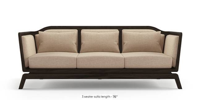 Satori Wooden Sofa (Macadamia Brown) (1-seater Custom Set - Sofas, None Standard Set - Sofas, Macadamia Brown, Fabric Sofa Material, Regular Sofa Size, Regular Sofa Type)