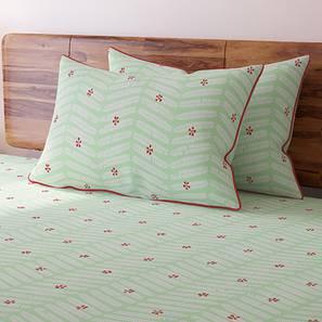 Gulmohar Bedsheet Set (King Size, Multi Colour, Pinnate Pattern) by Urban Ladder