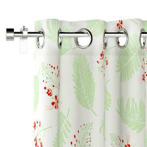 "Gulmohar Door Curtains - Set Of 2 (Multi Colour, 54"" x 108"" Curtain Size, Floret Pattern) by Urban Ladder"