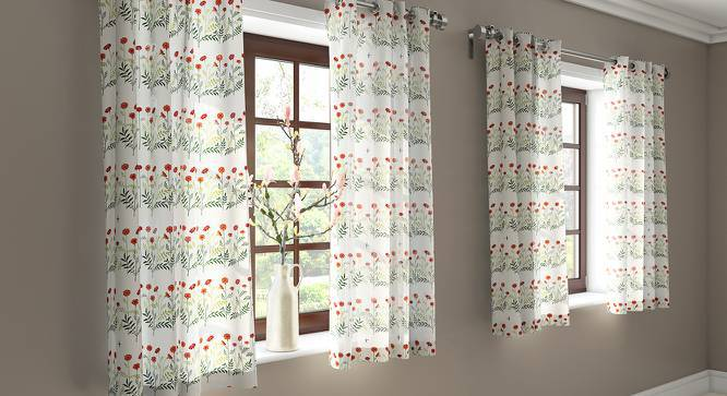 """Marigold Window Curtains - Set Of 2 (Multi Colour, 54"""" x 60"""" Curtain Size) by Urban Ladder"""