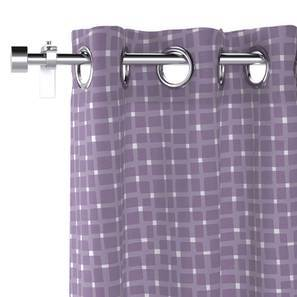 "Overlay Window Curtains - Set Of 2 (Purple, 54"" x 60"" Curtain Size) by Urban Ladder"