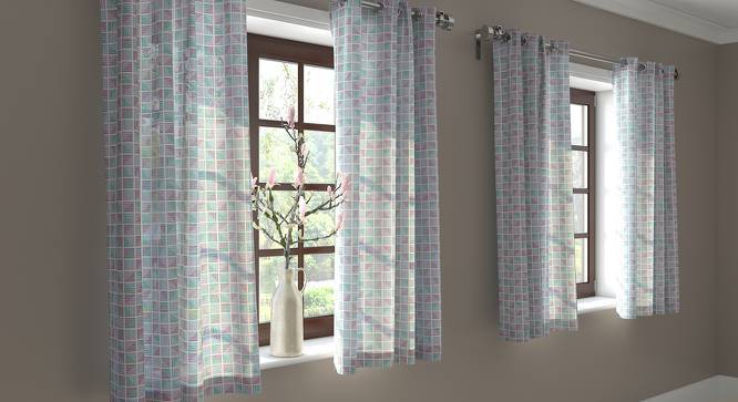 """Overlay Window Curtains - Set Of 2 (Multi Colour, 54"""" x 60"""" Curtain Size) by Urban Ladder"""