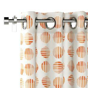 "Skyscape Door Curtains - Set Of 2 (Peach, 54"" x 108"" Curtain Size) by Urban Ladder"
