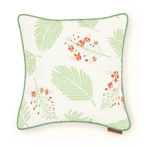 "Gulmohar Cushion Cover - Set Of 2 (16"" X 16"" Cushion Size, Multi Colour, Floret Pattern) by Urban Ladder"