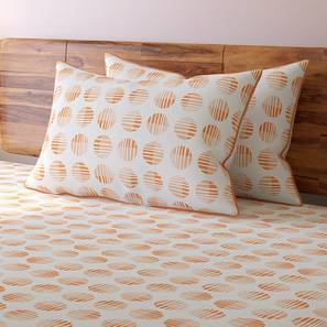 Skyscape Bedsheet Set (Double Size, Peach, Eos Pattern) by Urban Ladder