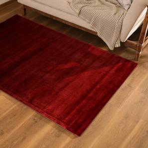 "Rubaan Viscose Rug (36"" x 60"" Carpet Size, Garnet Red) by Urban Ladder"