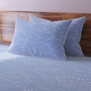Skyscape Bedsheet Set (Blue, King Size, Flock Pattern) by Urban Ladder