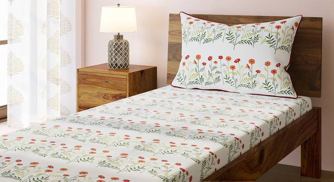 Marigold Bedsheet Set (Single Size, Multi Colour, Linea Pattern) by Urban Ladder