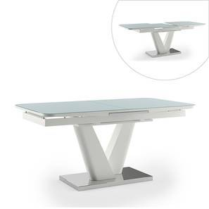 Caribu 6 to 8 Extendable Dining Table (Teak White Finish) by Urban Ladder