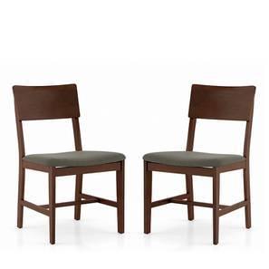 Dexter Dining Chairs - Set Of 2 (Grey, Dark Walnut Finish) by Urban Ladder