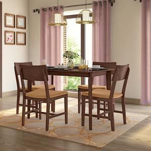 Dexter 4 Seater Dining Table Set (Brown, Dark Walnut Finish) by Urban Ladder
