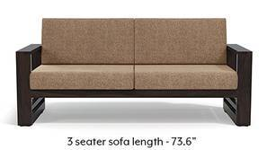 Parsons Wooden Sofa - American Walnut Finish (Safari Brown)