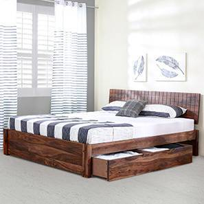 Valencia Storage Bed (Teak Finish, Queen Bed Size) by Urban Ladder