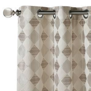 "Almaz Jacquard Door Curtains (Set of 2) (Multi Colour, 54""x84"" Curtain Size) by Urban Ladder"