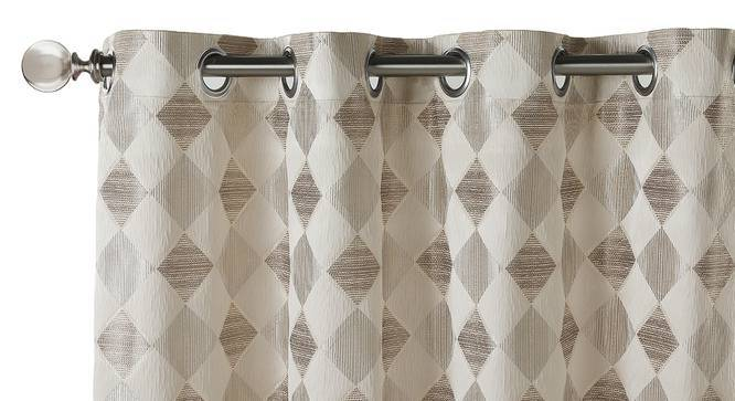 "Almaz Jacquard Door Curtains (Set of 2) (Multi Colour, 54""x84"" Curtain Size) by Urban Ladder"
