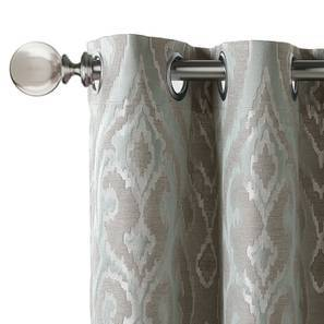 "Brockwell Jacquard Door Curtains (Set of 2) (Multi Colour, 54""x84"" Curtain Size) by Urban Ladder"