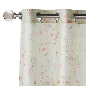 "Camley Sheer Door Curtains (Set of 2) (Multi Colour, 54""x84"" Curtain Size) by Urban Ladder"