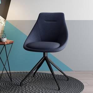 Doris Accent Chair (Blue, Fabric Material) by Urban Ladder