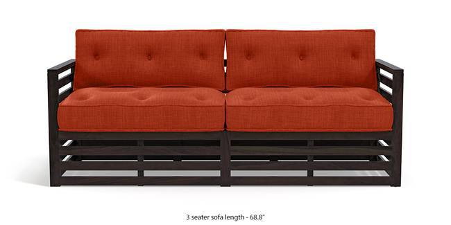 Raymond Wooden Sofa - American Walnut Finish (Lava) (1-seater Custom Set - Sofas, 2-seater Custom Set - Sofas, None Standard Set - Sofas, None Standard Set - Sofas, Lava, Lava, American Walnut Finish, American Walnut Finish, Fabric Sofa Material, Fabric Sofa Material, Regular Sofa Size, Regular Sofa Size, Regular Sofa Type, Regular Sofa Type)