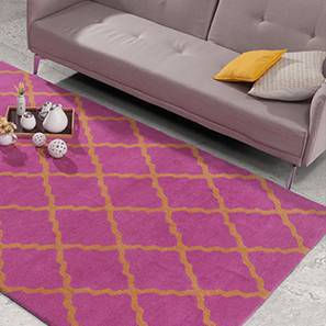 "Maroc Hand Tufted Carpet (36"" x 60"" Carpet Size, Flamingo Pink) by Urban Ladder"