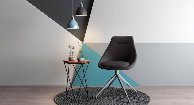 Doris Accent Chair (Dark Grey, Fabric Material) by Urban Ladder