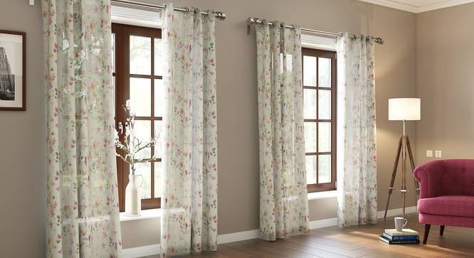 "Arley Sheer Door Curtains (Set of 2) (Multi Colour, 54"" x 108"" Curtain Size) by Urban Ladder"