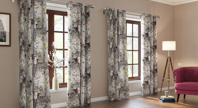 "Cluny Door Curtains (Set of 2) (Multi Colour, 54""x84"" Curtain Size) by Urban Ladder"