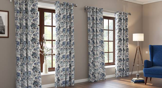 "Ruston Jacquard Door Curtains (Set of 2) (Multi Colour, 54""x84"" Curtain Size) by Urban Ladder"