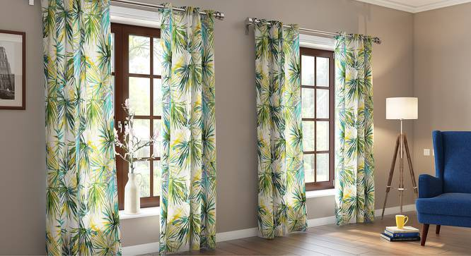 "Nostra Door Curtains (Set of 2) (Multi Colour, 54"" x 108"" Curtain Size) by Urban Ladder"