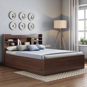 Sandon Storage Bed Dreamlite Bonnel Spring Mattress (Walnut Finish, Queen Bed Size) by Urban Ladder