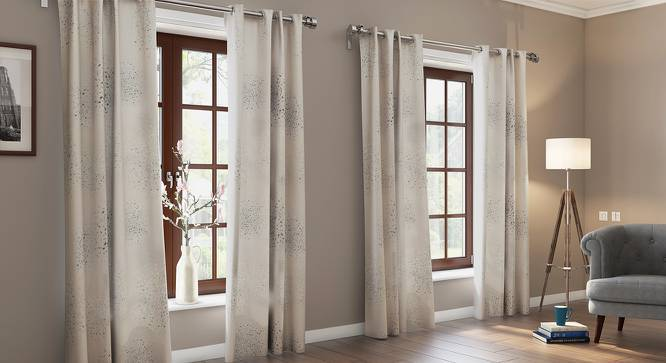 "Andromeda Jacquard Door Curtains (Set of 2) (Multi Colour, 54"" x 108"" Curtain Size) by Urban Ladder"