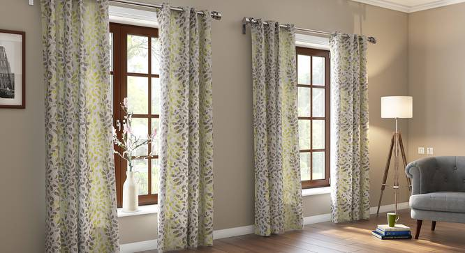 "Morden Jacquard Door Curtains (Set of 2) (Multi Colour, 54""x84"" Curtain Size) by Urban Ladder"