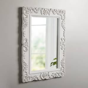 Stark Mirror (White - Distressed Finish) by Urban Ladder
