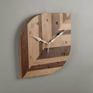 Acton Wall Clock (Natural Finish) by Urban Ladder
