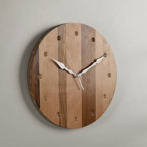 Aubry Wall Clock (Natural Finish) by Urban Ladder