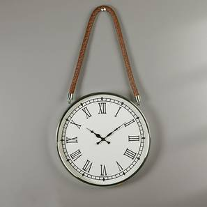 Kingsford Wall Clock (Nickel Finish) by Urban Ladder