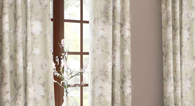 "Levens Jacquard Door Curtains (Set of 2) (Multi Colour, 54""x84"" Curtain Size) by Urban Ladder"