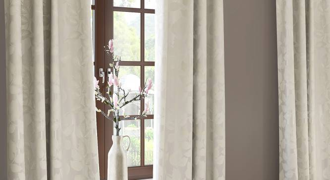 """Olson Jacquard Door Curtains (Set of 2) (Multi Colour, 54""""x84"""" Curtain Size) by Urban Ladder"""