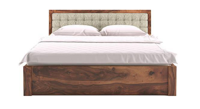 Florence Storage Bed (Teak Finish, King Bed Size, Monochrome Paisley) by Urban Ladder