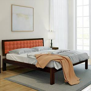 Florence Bed (Mahogany Finish, Queen Bed Size, Lava) by Urban Ladder